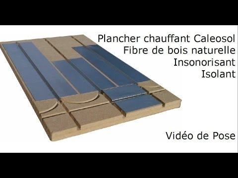 plancher chauffant sec mince caleosol eco isolant fibre. Black Bedroom Furniture Sets. Home Design Ideas