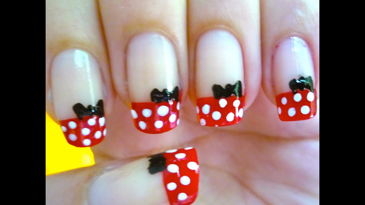 Unhas da Minnie Mouse - Nail Art - YouTube