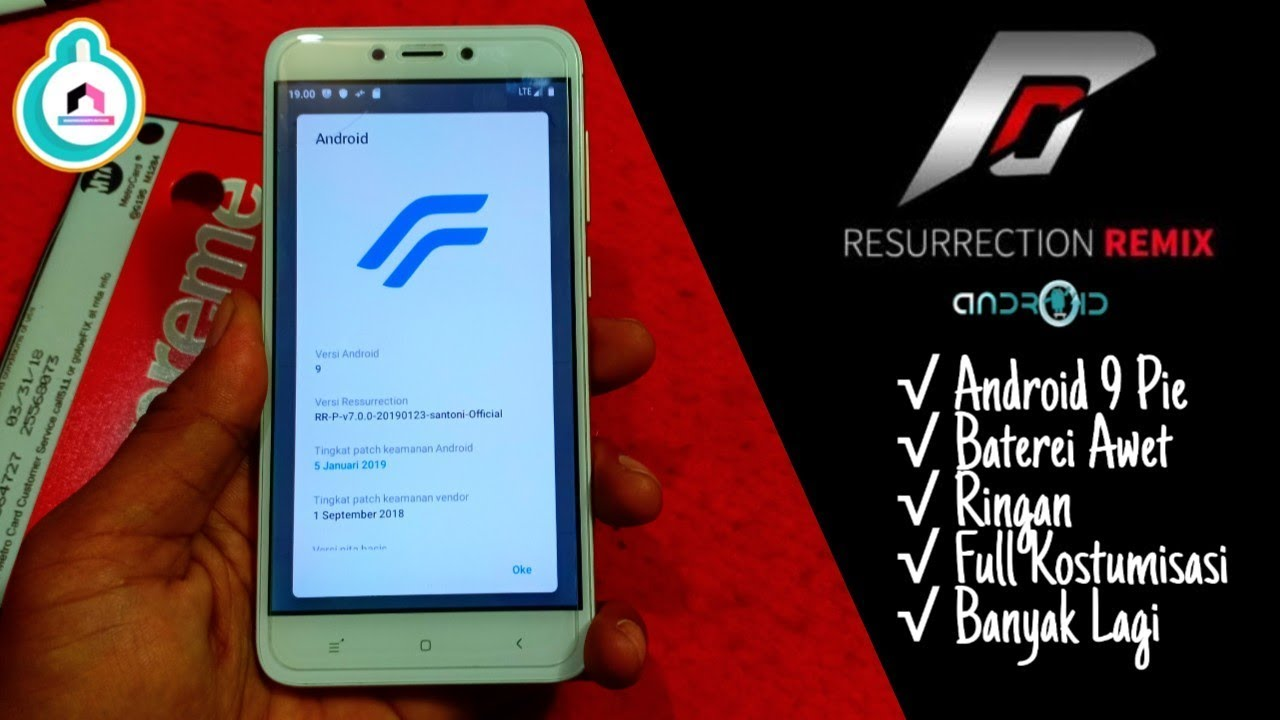 Custom ROM Resurrection Remix Android 9 Pie Redmi 4X V 7 0 Official