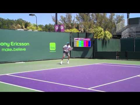 Mardy Fish vs David Ferrer - Sony Ericsson Open 2011