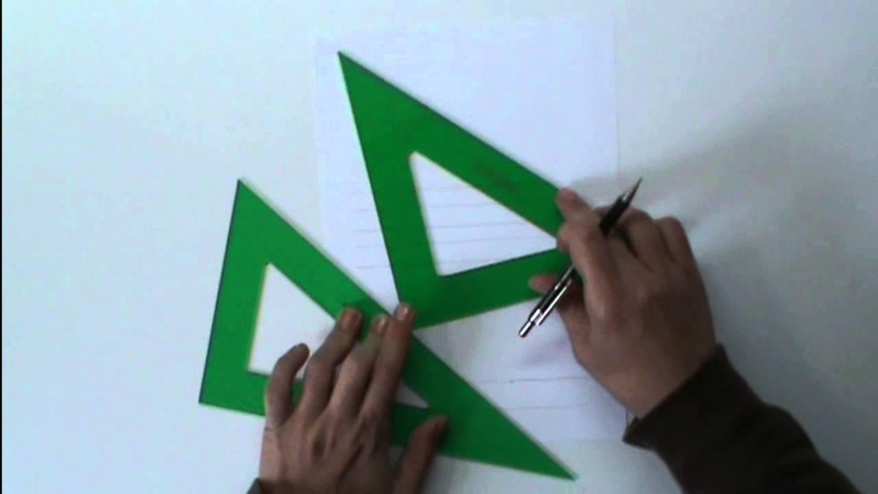 Paralelas y perpendiculares con la escuadra y el cartab n - Como hacer un plano de una casa ...