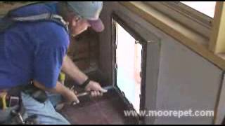 MaxSeal Pet Door Wall Installation | Step 8: Installing interior pet door frame