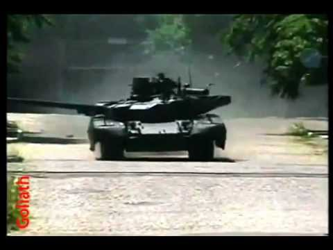 Т-84 Оплот на испытаниях в Десне