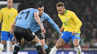 Entrada de Cavani y teatro de Neymar en el Brasil-Uruguay