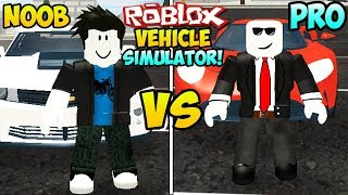 """NOOB VS PRO IN ROBLOX VEHICLE SIMULATOR"" (Roblox Car Simulator, Roblox Cars, Roblox Pro Vs Noob)"