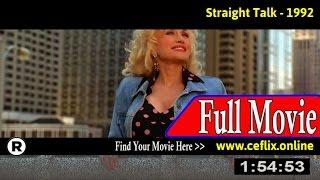 Straight Talk (1992) Full Movie Online