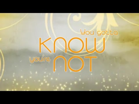 """Know You're Not"" on YouTube"