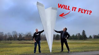 World's Largest RC Paper Airplane?! 🤯