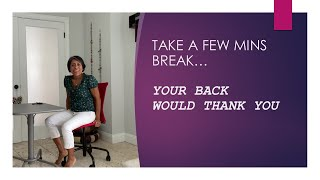 Take a few minutes break from work... How to release back pain?