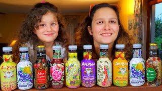 Самый дорогой напиток! Дети пробуют напитки🍹 ЧЕЛЛЕНДЖ Аризона ВСЕ ВКУСЫ! Детский канал Планета Алис