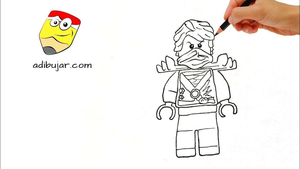 Ninjago Lego: Cómo dibujar a Lloyd Garmadon a lápiz paso a paso ...