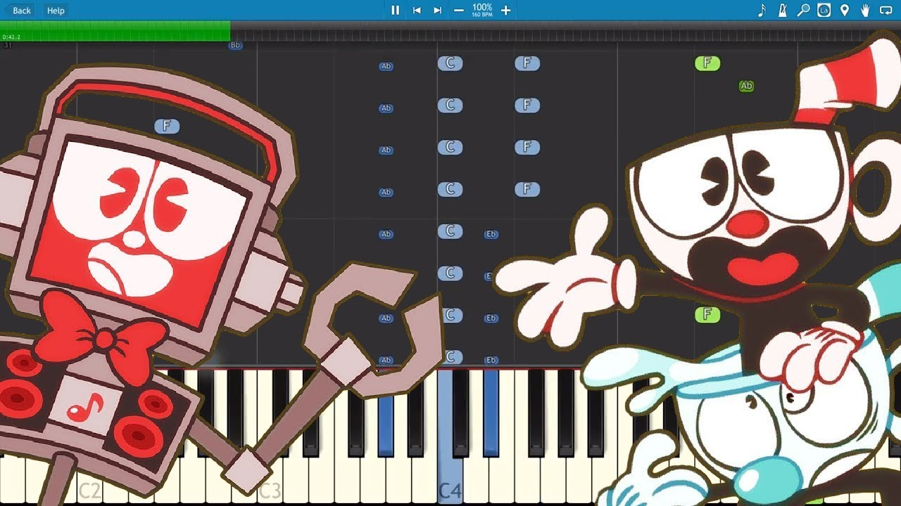 Cuphead Rap Song - You Signed A Contract - Piano Cover / Tutorial - Fandroid