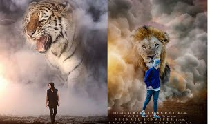 PicsArt somke bomb lion photo editing tutorial best photo editing step by step