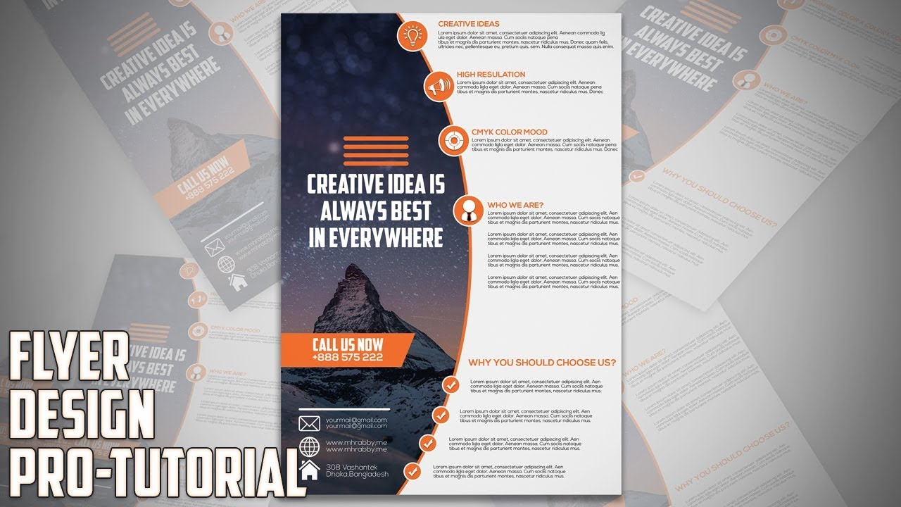 How To Design Professional Business Flyer In Adobe
