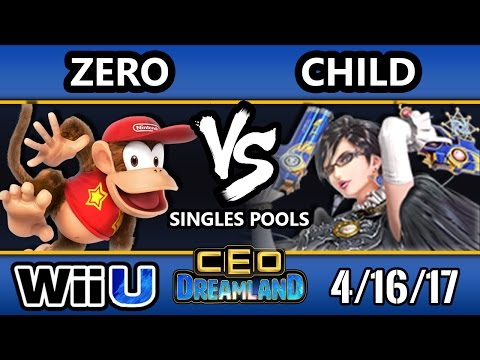 CEO Dreamland 2017 Smash 4 - TSM   ZeRo (Diddy Kong) Vs. TNF   Child (Bayonetta) SSB4 Pools