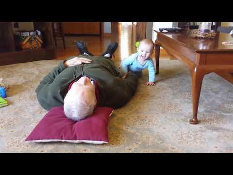 Baby attacks sleeping great-grandpa