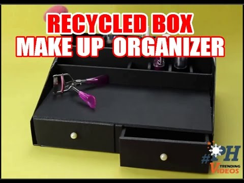 how to make improvise make up organizer youtube. Black Bedroom Furniture Sets. Home Design Ideas