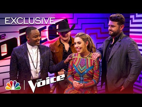 The Voice 2018  After the Elimination: Jackie Foster, Kaleb Lee, Pryor Baird and Rayshun LaMarr