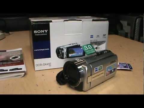 sony dcr sx45 65 85 handycam unboxing review part 1 youtube rh youtube com sony handycam dcr sx85 instruction manual Sony Handycam DCR- SX40