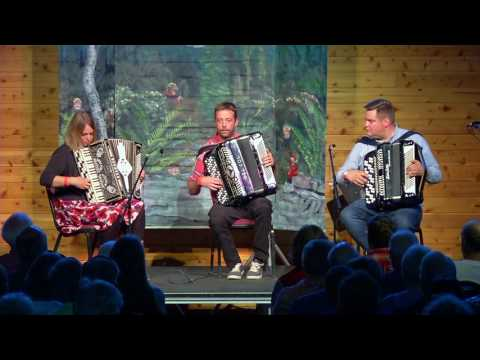 Skvis Accordion Trio from Norway performs at Nisswa-stämman 2017