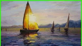 Мастер-Класс Александра Южакова. Яхта в лучах солнца +79818457723