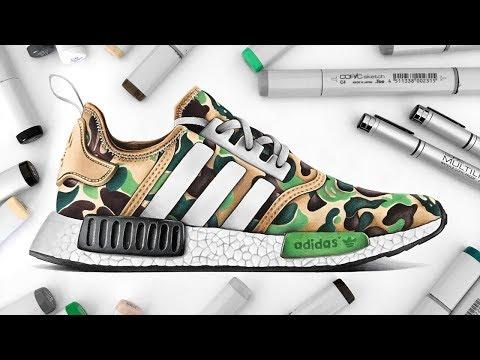 Drawing BAPE x Adidas NMD