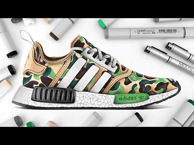 Drawing BAPE x Adidas NMD - YoutubeDownload.pro ad92b4fea