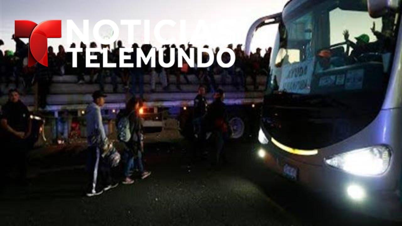 Miembros de la caravana migrante se acercan a la frontera con EEUU | Noticias Telemundo