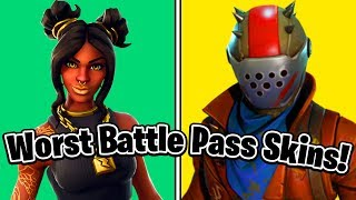 The 10 WORST Fortnite Battle Pass Skins EVER!