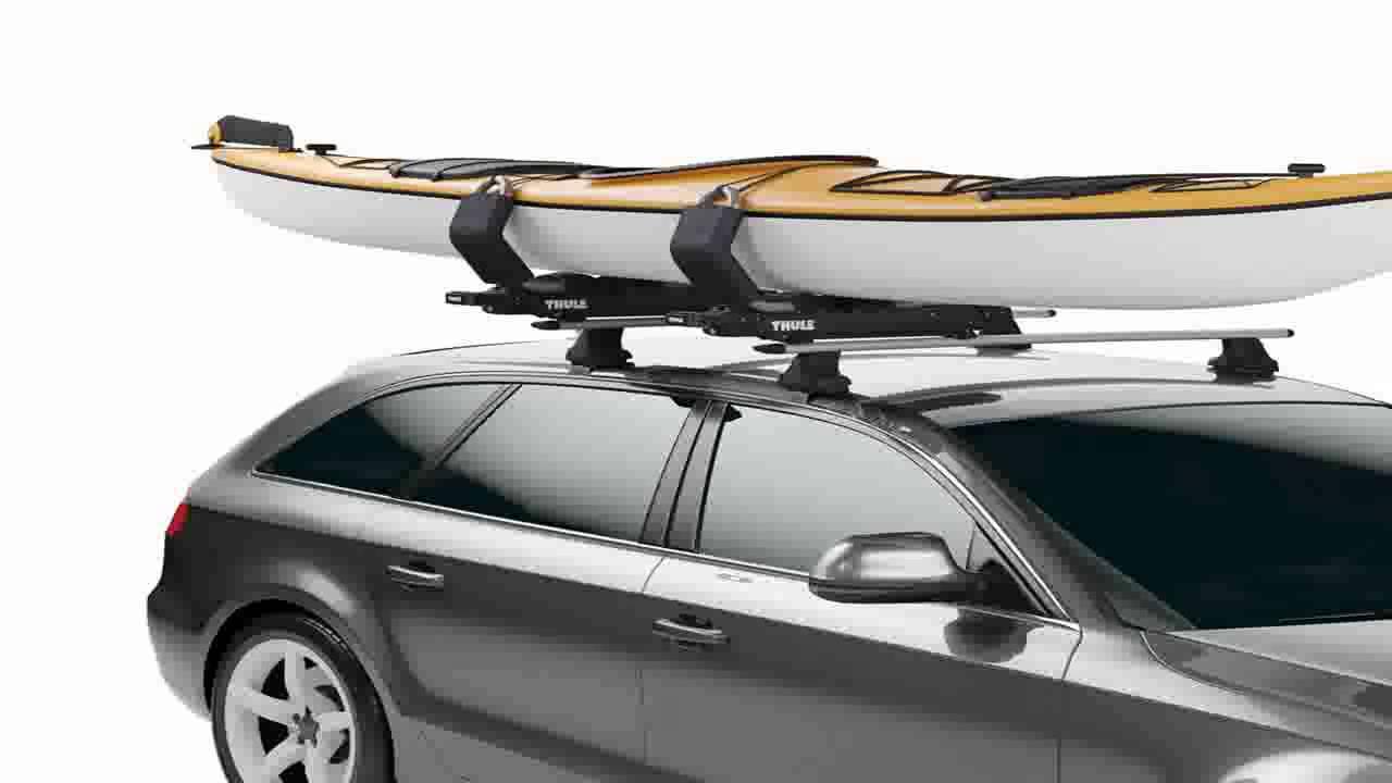 Thule 887 SlipStream Kayak Roof Rack Mount Carrier - YouTube