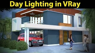 3D Max tutorial:Day Light Rendering in VRay Part 01