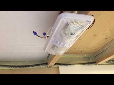 RV Trailer Build #85 - Bathroom Shower Vent Fan / Light and Heater Install - www.ginavince.com