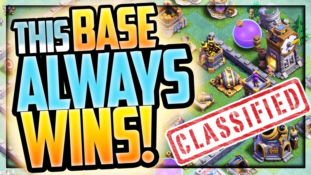 This Base Always Wins Clash Of Clans Builder Base Night Village Coc