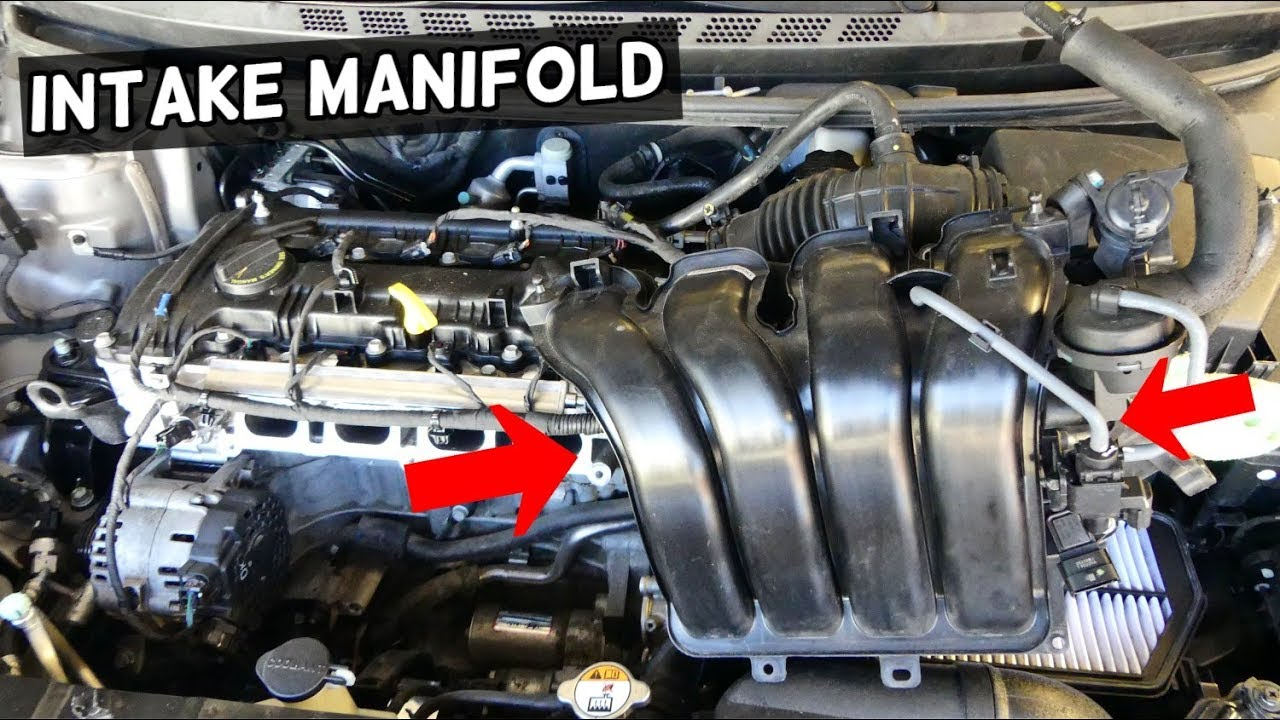 HOW TO REMOVE OR REPLACE INTAKE MANIFOLD KIA FORTE K3 SPORTAGE SOUL 1 8 2 0  NU
