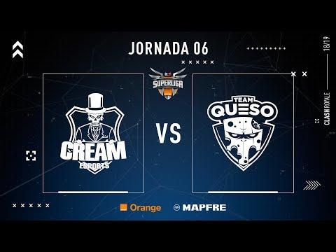 CREAM ESPORTS VS TEAM QUESO   SUPERLIGA ORANGE CLASH ROYALE   (Partido 1) JORNADA 6