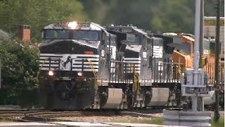 norfolk southern 23e wb with the ns wolf austellga 08 25 2014©