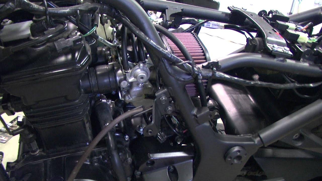 kawasaki ninja 250r ex250j exhaust jetting and filter