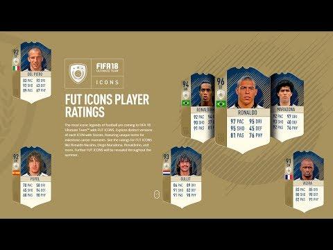 FIFA 18 TODOS LOS NUEVOS ICONOS + TODAS SUS VERSIONES!
