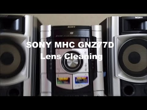 Sony MHC GNZ77D Lens Cleaning