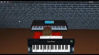human - testa o cuore di: Christina Perri su un pianoforte ROBLOX.
