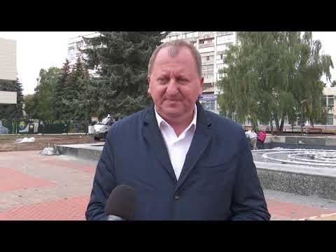 Rada Sumy: Олександр Лисенко проінспектував реконструкцію Театральної площі