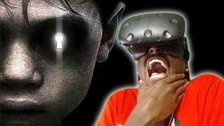 360 horror   the door htc vive vr experience reaction