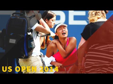 Caroline Wozniacki Vs Peng Shuai - 2014 US Open SF Highlights