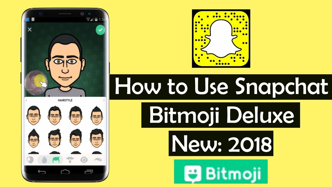 How to Use Snapchat Bitmoji Deluxe 2018