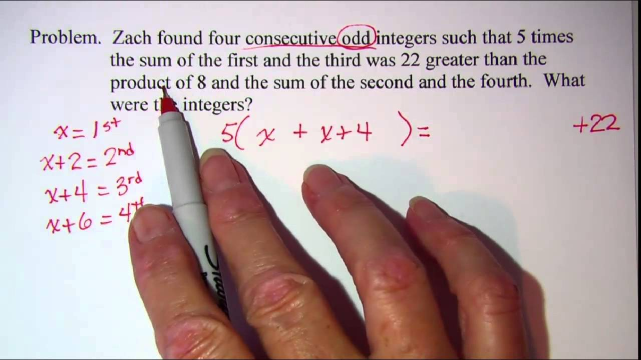 Consecutive Integer Word Problems 3 YouTube – Consecutive Integer Problems Worksheet