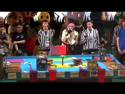 2012 - Robotnik vs Space Crackers - Coupe de France de robotique 2012 - quart de finale