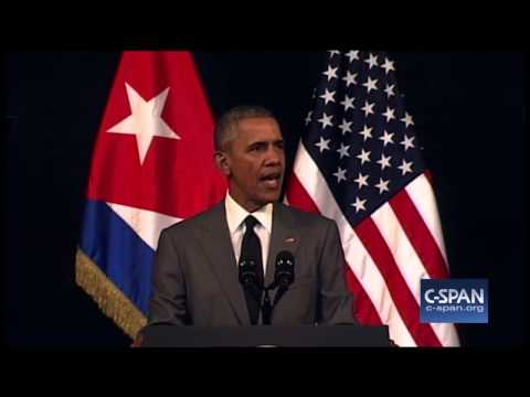 President Obama speech in Cuba -- FULL SPEECH (C-SPAN) President Obama delivered remarks in Havana to