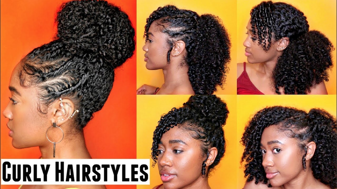 how to: 5 easy curly hairstyles for natural hair!