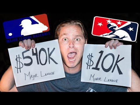 Major League vs Minor League SALARIES