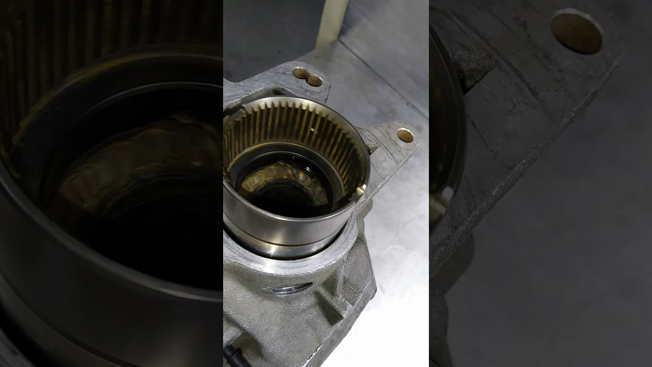 Volvo angle gear welded to shaft and resealed